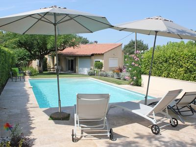 Photo for House with pool in Beaucet at the foot of the ventoux, magnificent view - 8 people