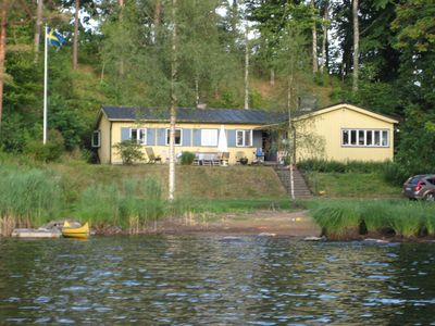 Photo for Spacious house with beautiful views of the lake Möckeln and private location. Beachfront property.