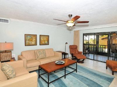 Photo for Buttonwood 417 - 3 Bedroom Condo with Private Beach with lounge chairs & umbrella provided, 2 Pools, Fitness Center and Tennis Courts.