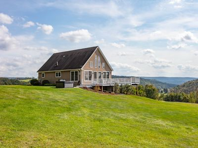 Photo for Sky High Chalet! Gorgeous home on 10+ acres with hot tub, 2 minutes to Wellsboro
