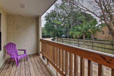 Unwind on your private balcony with views of the lush Florida landscape.