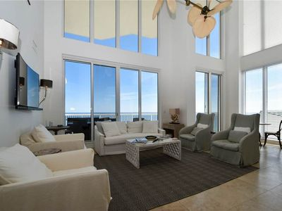 Photo for Impressive 5 BR Penthouse | Gulf-Front | Media Room | 2 Master Bedrooms