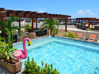 Photo for As seen on HGTV- Pristine Oceanfront Penthouse w/Private Pool @Mamitas Beach