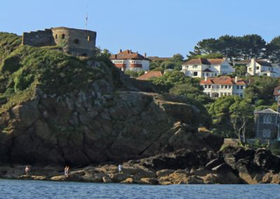 Nestled in a picturesque situation overlooking Readymoney Cove
