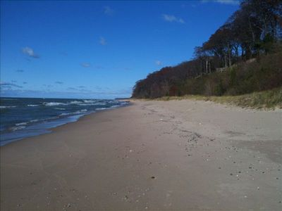 Uninterrupted beach to the north.