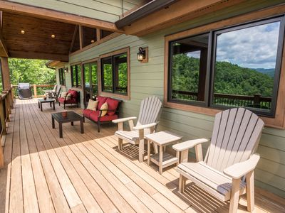 Photo for Grandfather Vistas - Hot Tub, Ping Pong, Fly Fish, views of Grandfather Mountain!