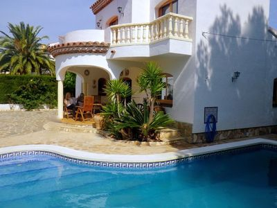 Photo for Beautiful Villa not overlooked, private pool, free WIFI, 5mn beaches