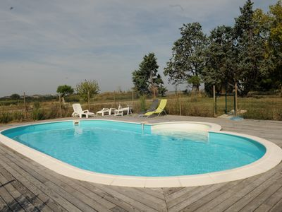 Photo for House 15 people on slopes of Lauragais - Park with pool - 7 rooms