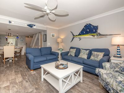 Photo for Beautifully Updated Ocean Oriented Beach Oasis!  Close to Coligny Plaza!