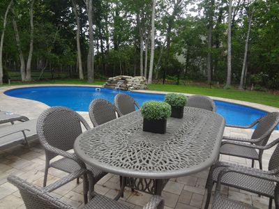 Photo for Hamptons Haven w/Serene Views!Heated Pool and Hot Tub! Game Room.WiFi