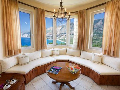 Photo for Panoramic Sea View over Myrtos Bay - Villa Teresa