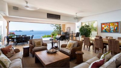 Photo for ☆Oceanfront villa w/private infinity pool+Terrace + Hot Tub+Acces to BeachClub ☆