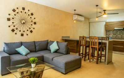 Photo for Suite with two bedrooms, fully equipped, terrace and overlooking the gardens