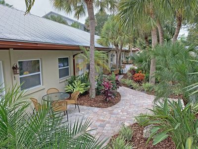 Photo for Hidden Paradise Among Tropical Landscape on Lakefront Property on Siesta Key