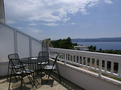 Photo for Two bedroom apartment with terrace and sea view Balića Rat (Omiš)