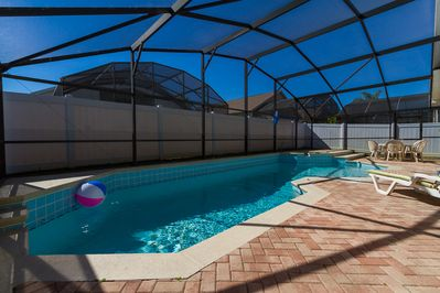 South facing oversized Pool&Spa(Jacuzzi). Fenced for privacy.
