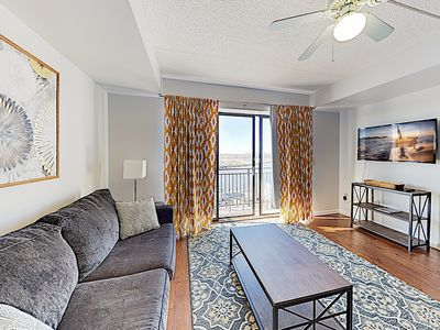 Photo for New Listing! Sparkling Downtown Condo w/ Riverfront Balcony - Highly Walkable