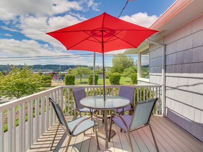 Photo for NEW LISTING! Mid-century house w/bay view, entertainment & large yard