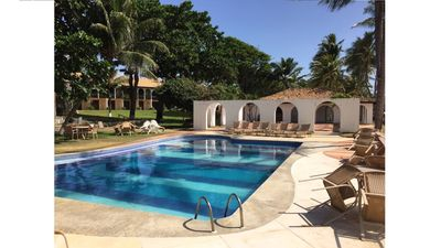 Photo for Beachfront flat with 3 bedrooms and in the main village of Praia do Forte