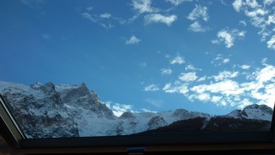 Photo for Studio La Grave with beautiful view of La Meije, 100 m from the cable car