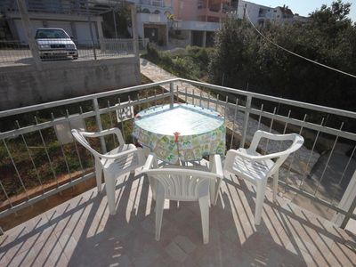 Photo for Two bedroom apartment with terrace and sea view Sveti Petar, Biograd (A-3251-d)