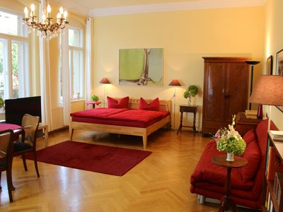Photo for Quiet apartment near the historic city center in a villa on the Elbe