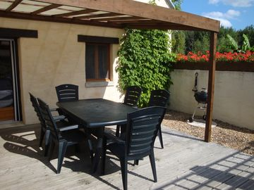 A lovely gite with private terraces, heated pool for a wonderful, relaxing stay!