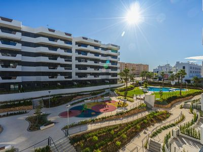 Photo for Modern apartment  with communal pool in Arenales Del Sol, on the Costa Blanca, Spain for 4 persons