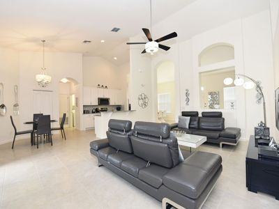 Photo for GORGEOUS 4BD TH w/Pool in Luxury Solterra Resort, No Rear Neighbors, Close to Disney, RST Amenities
