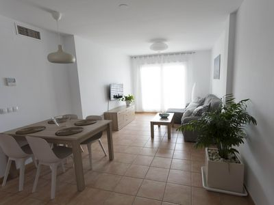 Photo for Bright apartment in Conil, quiet area with sea view.