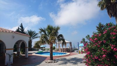 Photo for Independent studio in Andalusian Villa with swimming pool and magnificent sea view