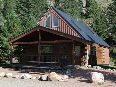 Photo for Roomy Taylor Canyon Cabin With Private Fishing Access