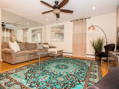 Photo for Sunny 2 bed plus den,steps to public transport,Longwood Medical hospitals,Boston