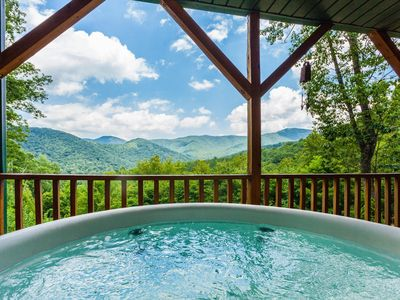 Photo for Mountain Top Privacy, Hot Tub, Pet Friendly & Close to Downtown Asheville