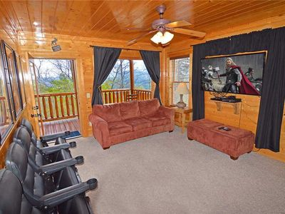 Photo for The Love Shack | Mountain View | Theater Room | Outdoor TV & Hot Tub  | Game Loft | WiFi | Sleeps 8
