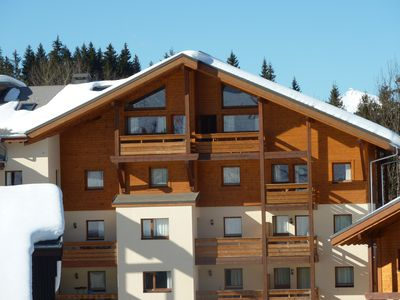 Photo for Stunning Top-floor, High Celings Ski Ski Out and Spa In French Alps