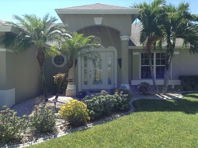 Photo for Villa South Palms - Gulf Access Canal Home With Southwestern Pool Exposure