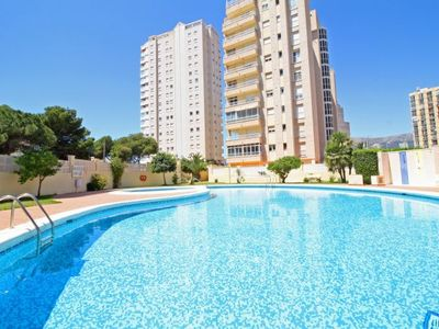 Photo for 2 bedroom Apartment, sleeps 5 with Pool, Air Con, WiFi and Walk to Beach & Shops