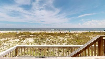 "Photo for No Hurricane Damage! Catch the sunrise from your beachfront East End escape! Community Pool, WiFi, Beach Gear 2BR/2.5BA ""Ocean Mile G-5"""