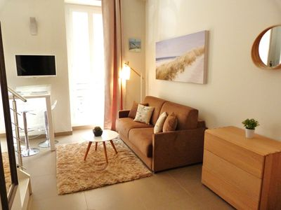 Photo for GRAND BLEU - Beautiful - Studio 4 pers - Clim - Beach 2 min walk