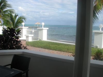 Photo for Ocean Front Apartment - King bed, pool, daily housekeeping