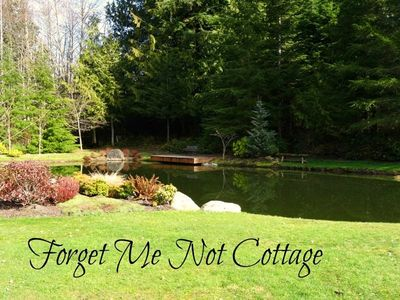 Photo for 2 Bedroom/1 Bath cottage in tranquil park-like setting with pond, trails and lovely views, Sleeps 4