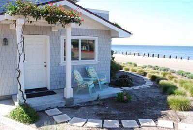The entrance to your beach getaway, sunset watching porch and ocean vista