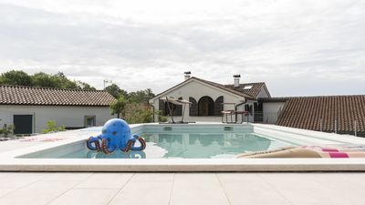 Photo for Beautifully renovated old stone house with large private outdoor pool