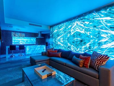 Photo for LED Onyx Wall 1bdrm Suite/Balcony & Pool view