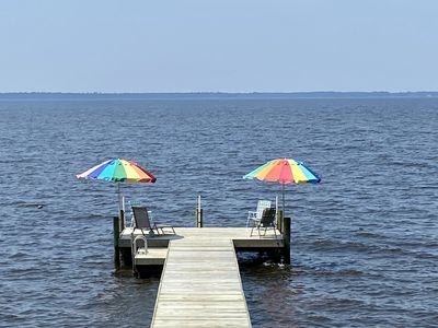 Photo for Wide Water Views | Pamlico Cottage | Bath/Belhaven | Private Pier | WiFi | 3 Bds