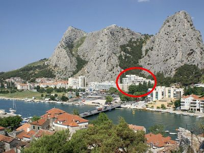 Photo for Apartment in Omiš (Omiš), capacity 2+2