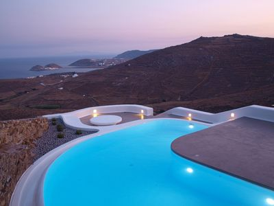 Photo for Luxury Villa Illusione Mykonos, 5 bedrooms 4 bathrooms and private pool, up to 10 Guests Modern design, great views