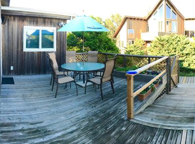Front Deck. Shady Late Afternoon.
