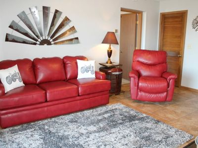 Photo for Charming 1 bed 1 bath Condo! Steps from pool ! SDC 1 mile! Stunning Lake Views!